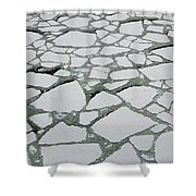 Heavy Pack Ice Terre Adelie Land Shower Curtain