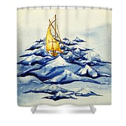 Heavy Seas Shower Curtain
