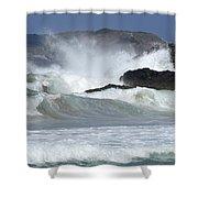 Heavy Surf Action Fernando De Noronha Brazil 1 Shower Curtain
