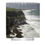 Heavy Surf On The Irish Coast Shower Curtain