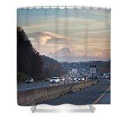 Heavy Traffic Stalls Interstate 5 Shower Curtain