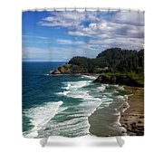 Heceta Head Shower Curtain by Darren  White