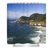 Heceta Head Lighthouse 2 A Shower Curtain