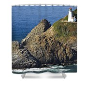 Heceta Head Lighthouse 2 F Shower Curtain