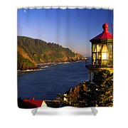 Heceta Head Moonrise Shower Curtain
