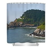 Heceta Head Overlooking The Pacific Ocean Shower Curtain