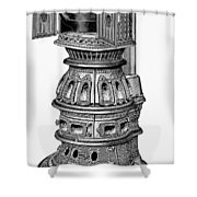 Hecla Oven Stove, 1875 Shower Curtain