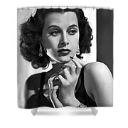 Hedy Lamarr - Beauty And Brains Shower Curtain