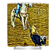 Heeled Steer Shower Curtain