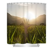 Heelllpppp Shower Curtain