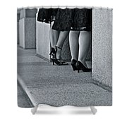 Heels And Lace Shower Curtain