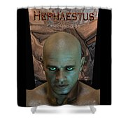 Hephaestus Vulcan Shower Curtain