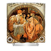 Heidsieck Champagne Poster Advert Shower Curtain by Philip Ralley