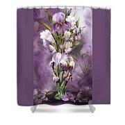 Heirloom Iris In Iris Vase Shower Curtain