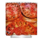 Heirlooms With Salt And Pepper Shower Curtain