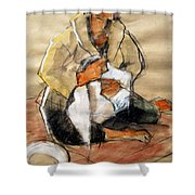 Helene #13 - Figure Series Shower Curtain
