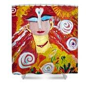 Helianna - Angel Of Divine Serenity Shower Curtain