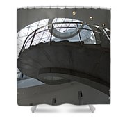 Helical Staircase Shower Curtain