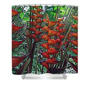Heliconia Haven Shower Curtain