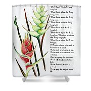 Heliconia Poem Shower Curtain