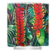 Heliconia Rostrata Shower Curtain