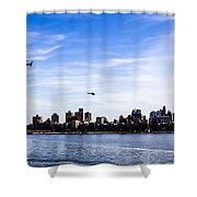 Helicopter Tour Of Nyc Shower Curtain