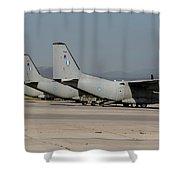 Hellenic Air Force C-27j Spartan Shower Curtain