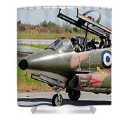 Hellenic Air Force Pilots Sitting Shower Curtain