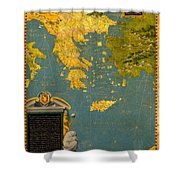 Hellenic Peninsula Greece Albania Bosnia And Bulgaria Shower Curtain