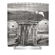Hellisheidi Power Station Well Shower Curtain