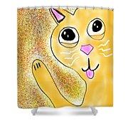 Hello Little Kitty Shower Curtain
