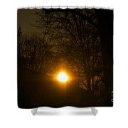 Hello Springtime Sunrise Shower Curtain