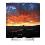 Hello Sunrise Shower Curtain