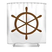 Helm In Brown And White Shower Curtain