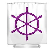 Helm In Purple And White Shower Curtain