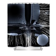 Helm Of Darkness Shower Curtain