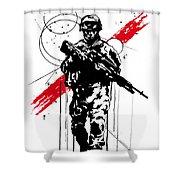 Helmand  Shower Curtain