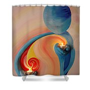 Helping Hands High Resolution 2 Shower Curtain