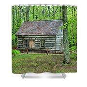 Helser Log House Shower Curtain
