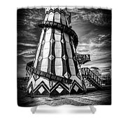 Helter Skelter Mono Shower Curtain