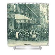 Hemingway's Paris 1925 Shower Curtain