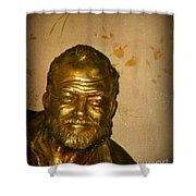 Hemmingway In Havana Shower Curtain by John Malone