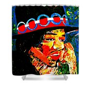 Hendrix Rocks Shower Curtain