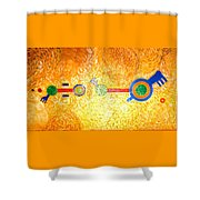 Henge-o-glyph From Wheat-shire Shower Curtain