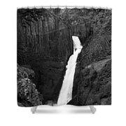 Hengifoss Waterfall Shower Curtain