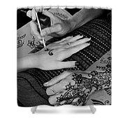 Henna Artist At Play Shower Curtain