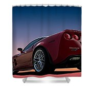 Hennessey Red Shower Curtain