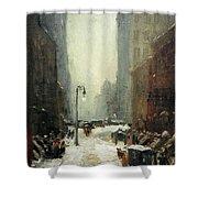 Henri's Snow In New York Shower Curtain
