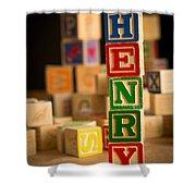 Henry - Alphabet Blocks Shower Curtain