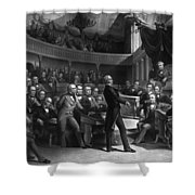 Henry Clay Speaking In The Senate Shower Curtain